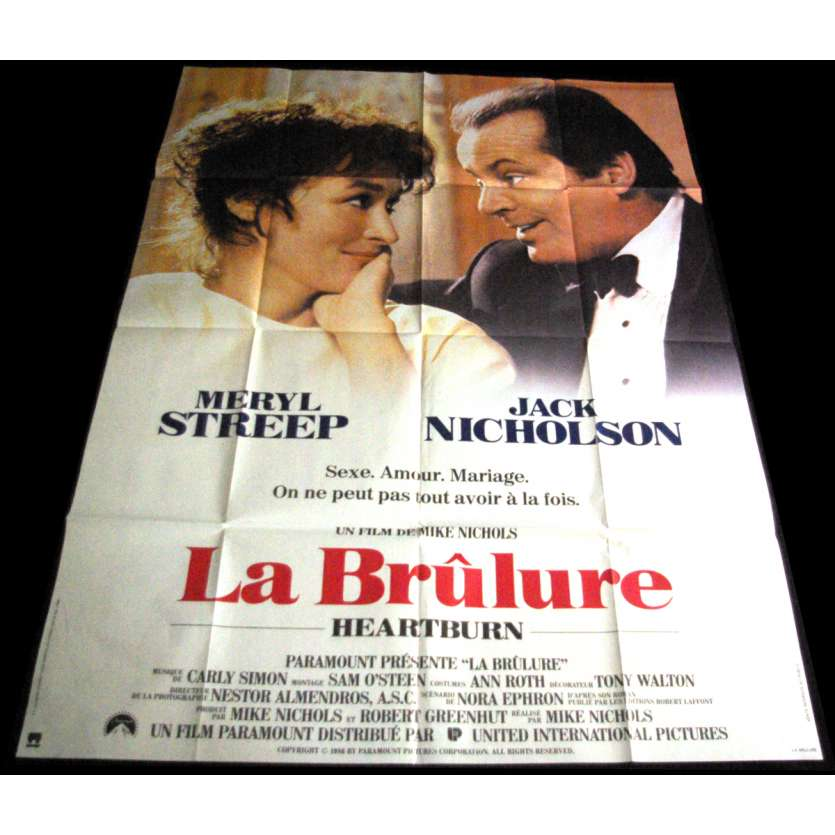 HEARTBURN French Movie Poster 47x63 '86 Meryl Streep, Jack Nickolson