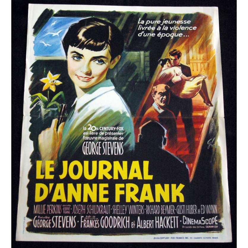 JOURNAL D'ANNE FRANK Affiche de film 45x56 '59 George Stevens