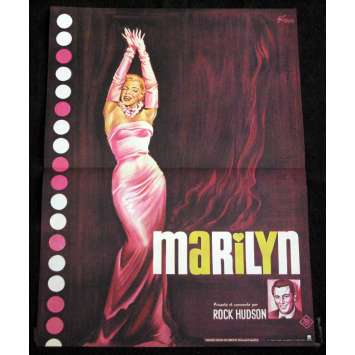 MARYLIN French Movie Poster 15x21 'R70 Marylin Monroe, Rock Hudson