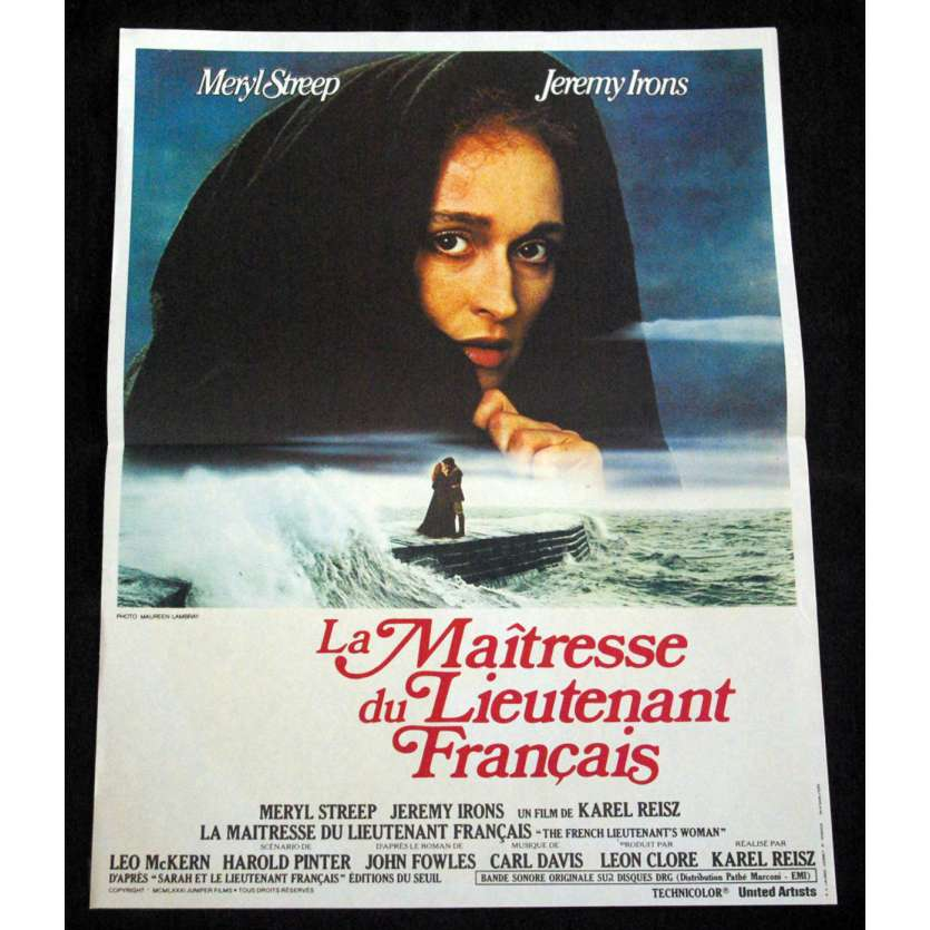 LA MAITRESSE DU LIEUTENANT FRANÇAIS Affiche du film 40x60 '81 Meryl Streep