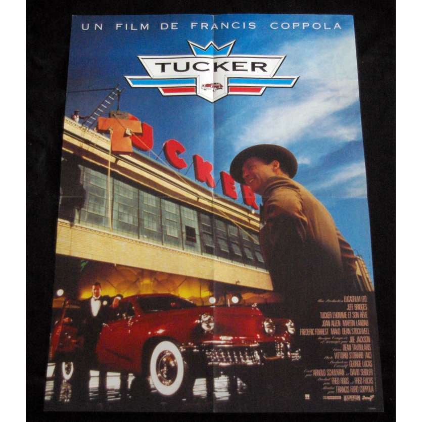 TUCKER Affiche de film 60x80 '88 Jeff Bridges, Francis Ford Coppola