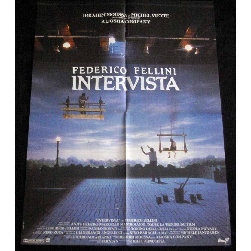 INTERVISTA French Movie Poster 23x32 '87 Federico Fellini