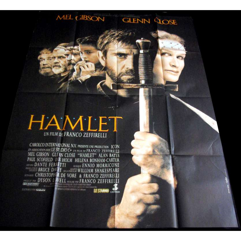 HAMLET French Movie Poster 47x63 '90 Mel Gibson