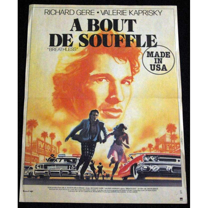 A BOUT DE SOUFFLE Affiche de film 40x60 '83 Richard Gere
