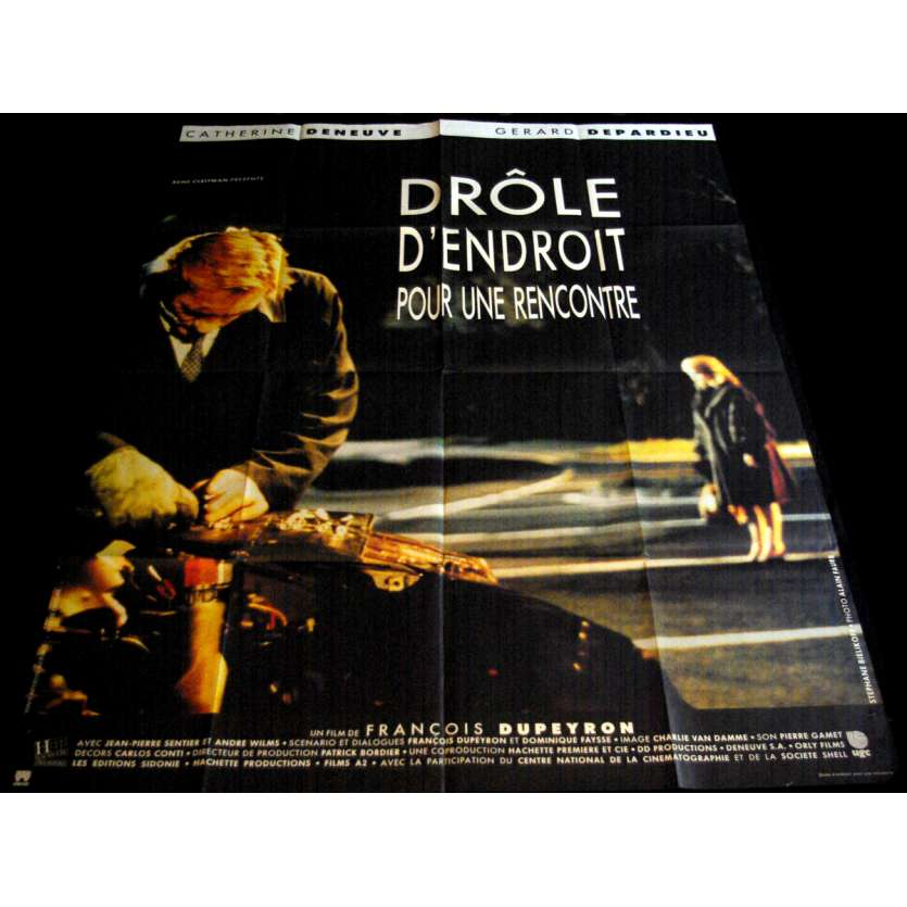 A STRANGE PLACE TO MEET French Movie Poster 47x63- 1988 - François Dupeyron, Catherine Deneuve