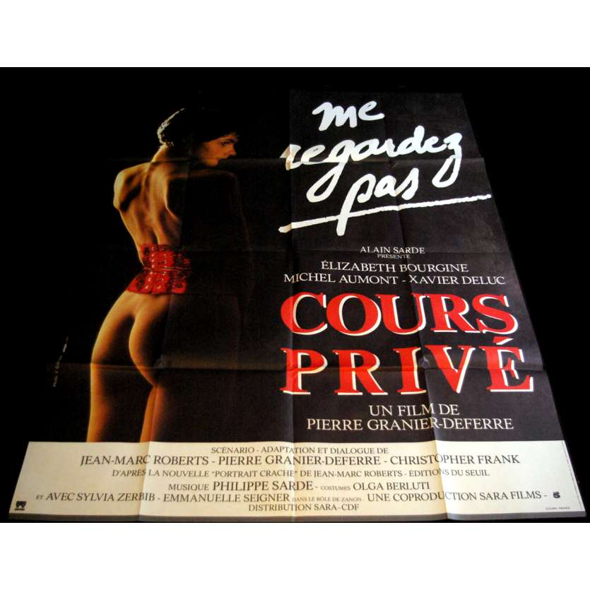 COURS PRIVE Affiche de film 120x160 - 1986 - Elisabeth Bourgine, Pierre Granier-Deferre