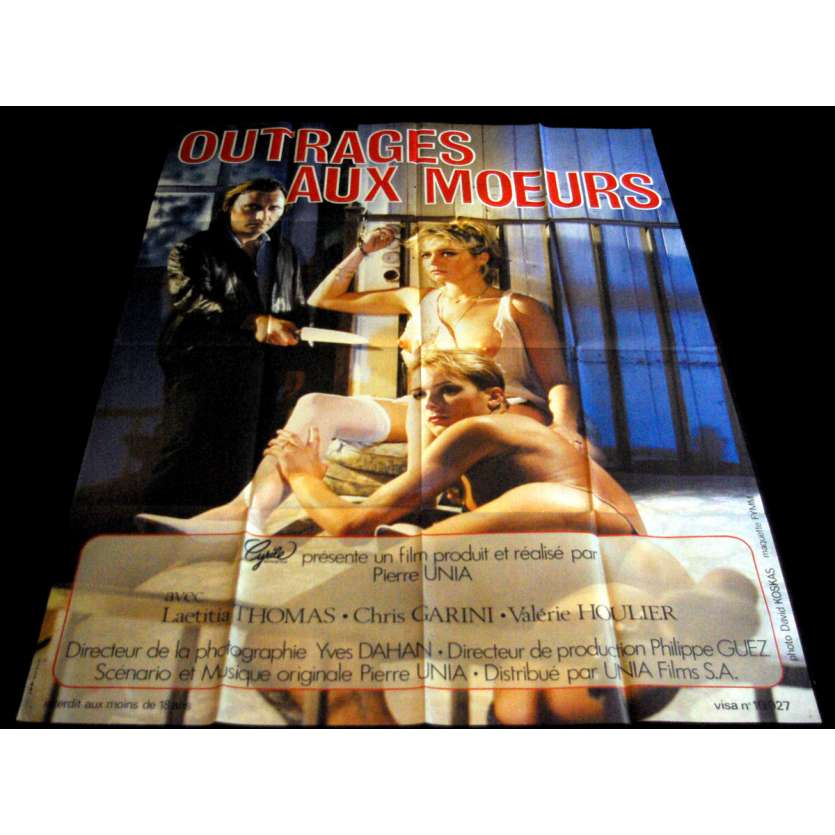 OUTRAGES AUX MŒURS French Movie Poster 47x63- 1985 - Pierre Unia, Laeticia Thomas
