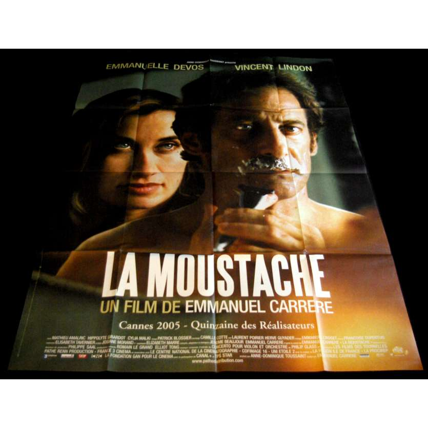 THE MOUSTACHE French Movie Poster 47x63- 2005 - Emmanuel Carrère, Vincent Lindon