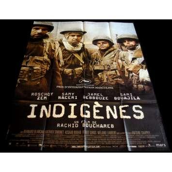 INDIGENES Affiche de film 120x160 - 2006 - Samy Naceri, Rachid Bouchareb