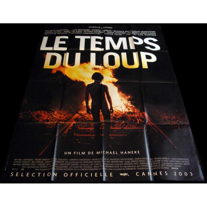 LE TEMPS DU LOUP Affiche de film 120x160 - 2003 - Isabelle Huppert, Michael Haneke