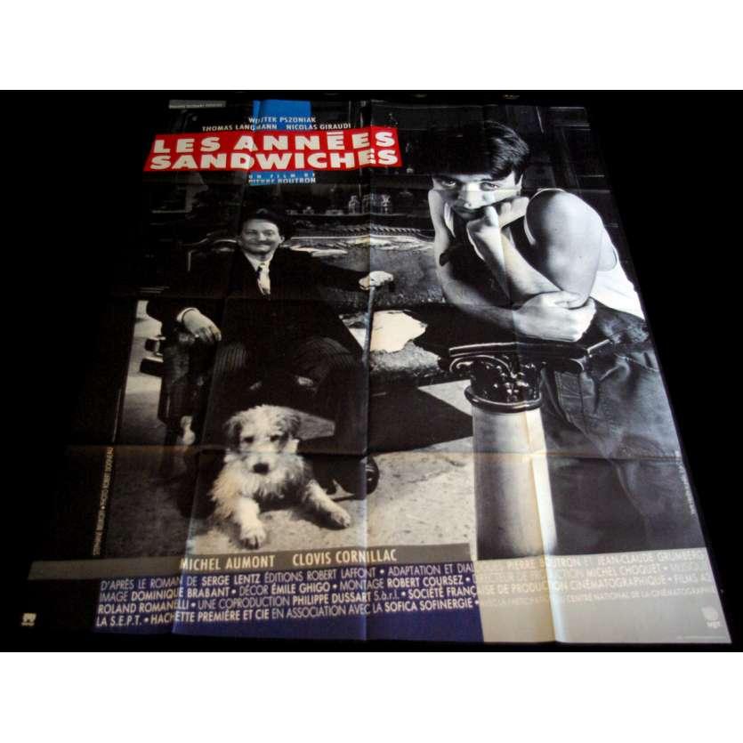 LES ANNEES SANDWICHES Affiche de film 120x160 - 1988 - Thomas Langmann, Pierre Boutron