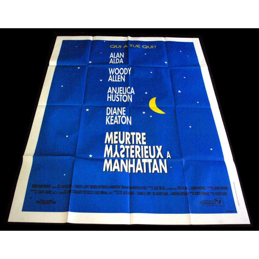 MANHATTAN MURDER MYSTERY French Movie Poster 47x63- 1993 - Woody Allen, Diane Keaton