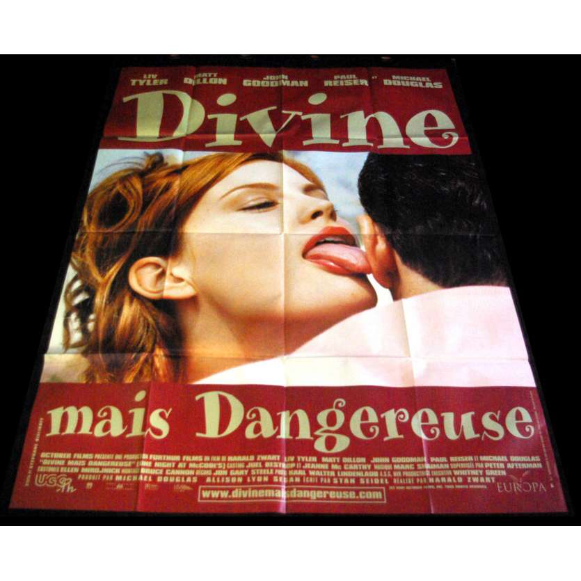 ONE NIGHT AT MCCOOL'S) French Movie Poster 47x63- 2001 - Harald Zwart, Liv Tyler, Matt Dilon