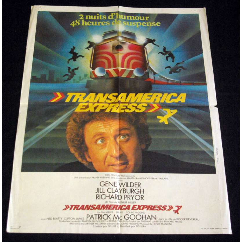SILVER STREAK French Movie Poster 23x32- 1976 - Arthur Hiller, Gene Wilder