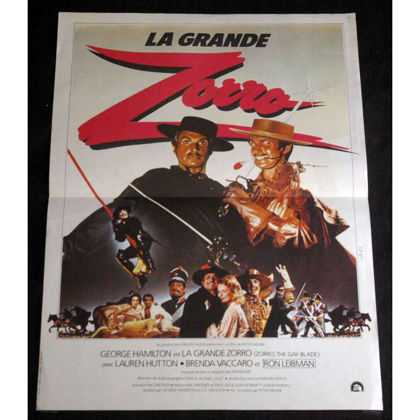 ZORRO, THE GAY BLADE French Movie Poster 15x21- 1981 - Peter Medak, Gorge Hamilton