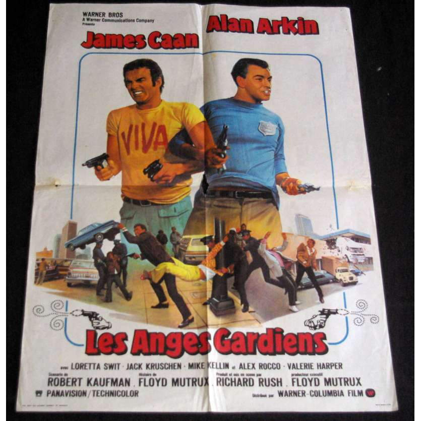 FREEBIE AND THE BEAN French Movie Poster 23x32- 1974 - Richard Rush, Alan Arkin