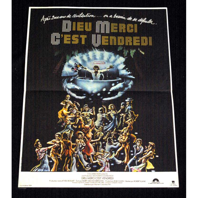 THANK GOD, IT'S FRIDAY French Movie Poster 15x21- 1978 - Robert KLANE, Donna Summer