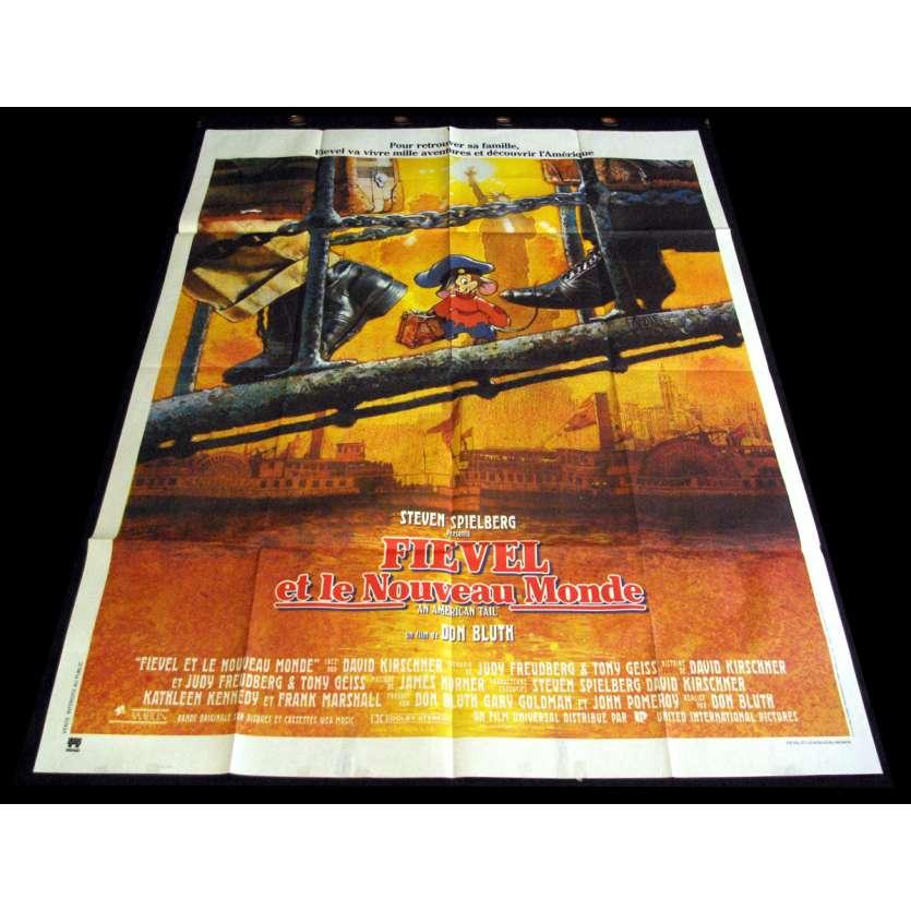 FIEVEL ET LE NOUVEAU MONDE Affiche de film 120X160 - 1986 - Don Bluth