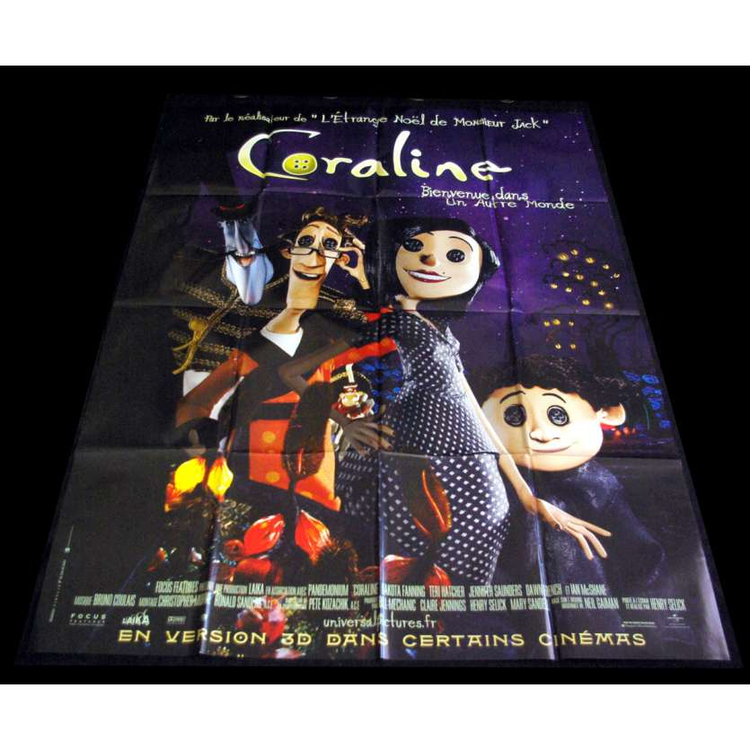 CORALINE Affiche de film 120X160 - 2009 - Henry Selick