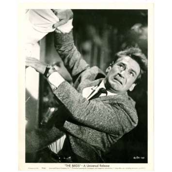 BIRDS 8x10 still '63 Alfred Hitchcock, super close up of Rod Taylor in panic!