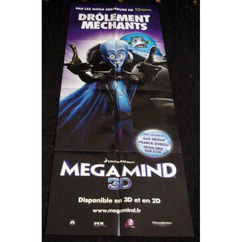 MEGAMIND Affiche de film 60x160 - 2010 - Tom McGrath