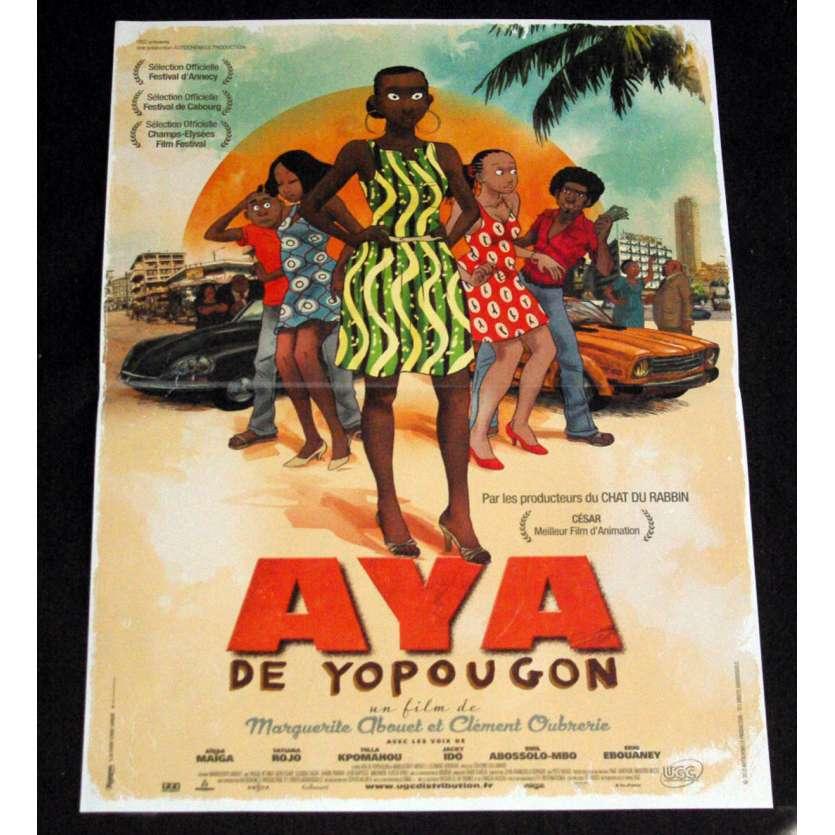 AYA DE YOPOUGON Affiche de film 40x60 - 2013 - Marguerite Abrouet