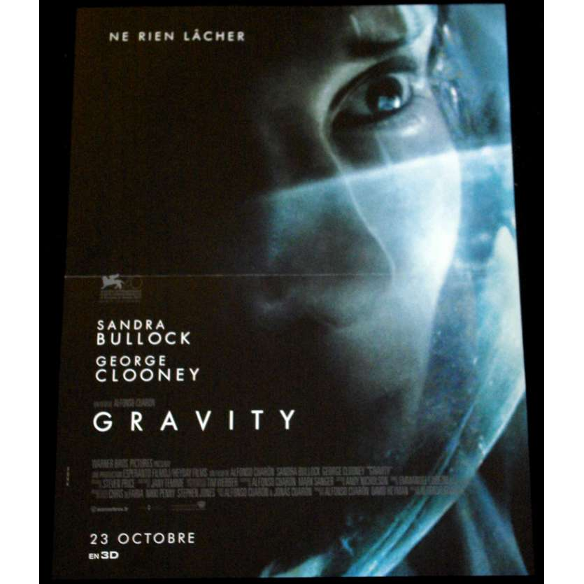 GRAVITY French Movie Poster 15x21- 2013 - Alfonso Cuaron, Sandra Bullock
