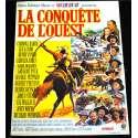 LA CONQUETE DE L'OUEST Affiche de film 40x60 - R-1970 - John Wayne, Henry Hathaway
