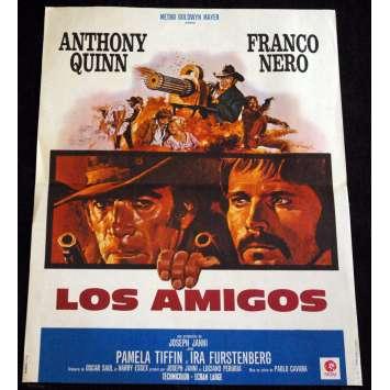 LOS AMIGOS French Movie Poster 15x21- 1974 - Paolo Cavara, Anthony Quinn