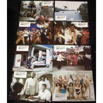 OCTOPUSSY French Lobby Cards (8) 9x10- 1983 - John Glen, Roger Moore