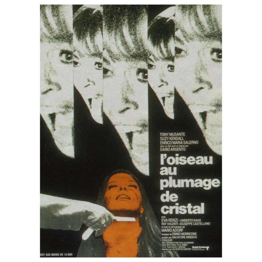 THE BIRD WITH CRYSTAL PLUMAGE Movie Poster 23x32 - 1971- Dario Argento, Giallo