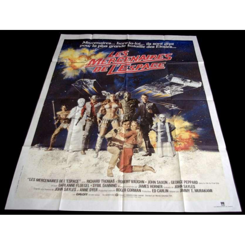 LES MERCENAIRES DE L'ESPACE Affiche de film 120x160 - 1980 - Robert Vaughn, Roger Corman