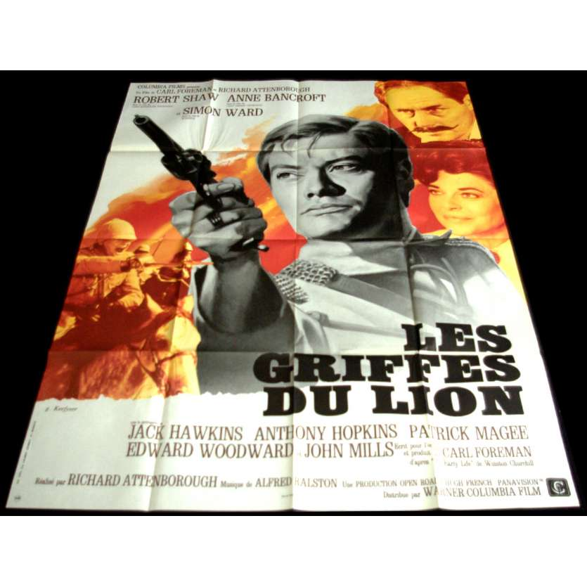 LES GRIFFES DU LION Affiche de film 120x160 - 1972 - Robert Shaw, Richard Attenborough