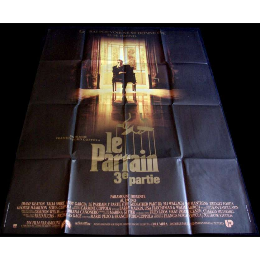 GODFATHER 3 French Movie Poster 23x63- 1990 - Francis Coppola, Al Pacino