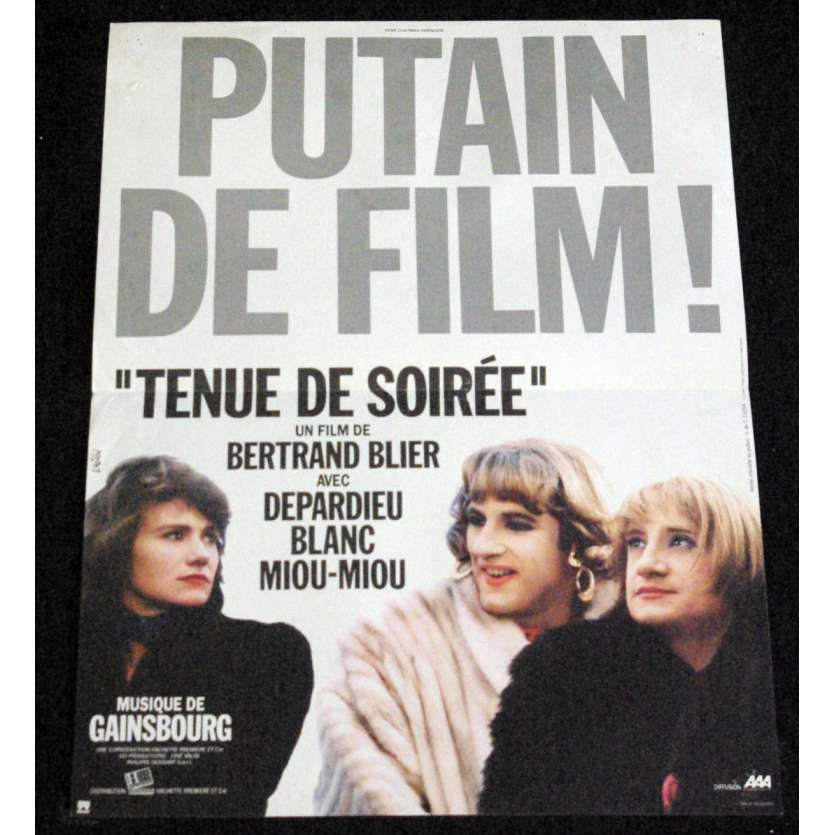 TENUE DE SOIREE French Movie Poster 15x21- 1986 - Bertrand Blier, Michel Blanc