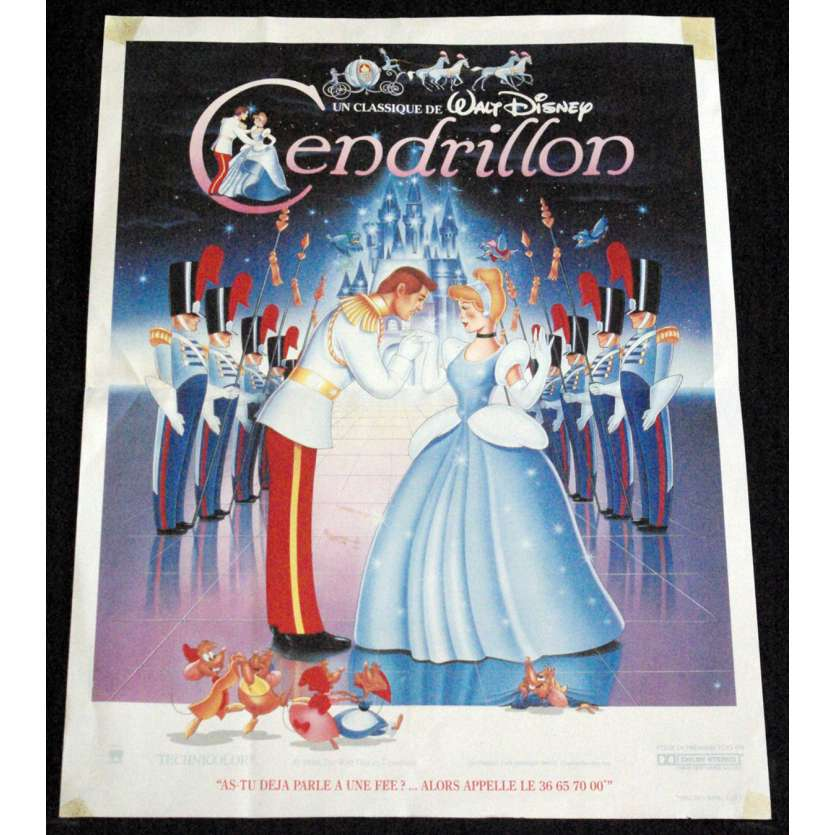 CENDRILLON Affiche de film 40x60 - R-1970 - Ilene Woods, Disney C6