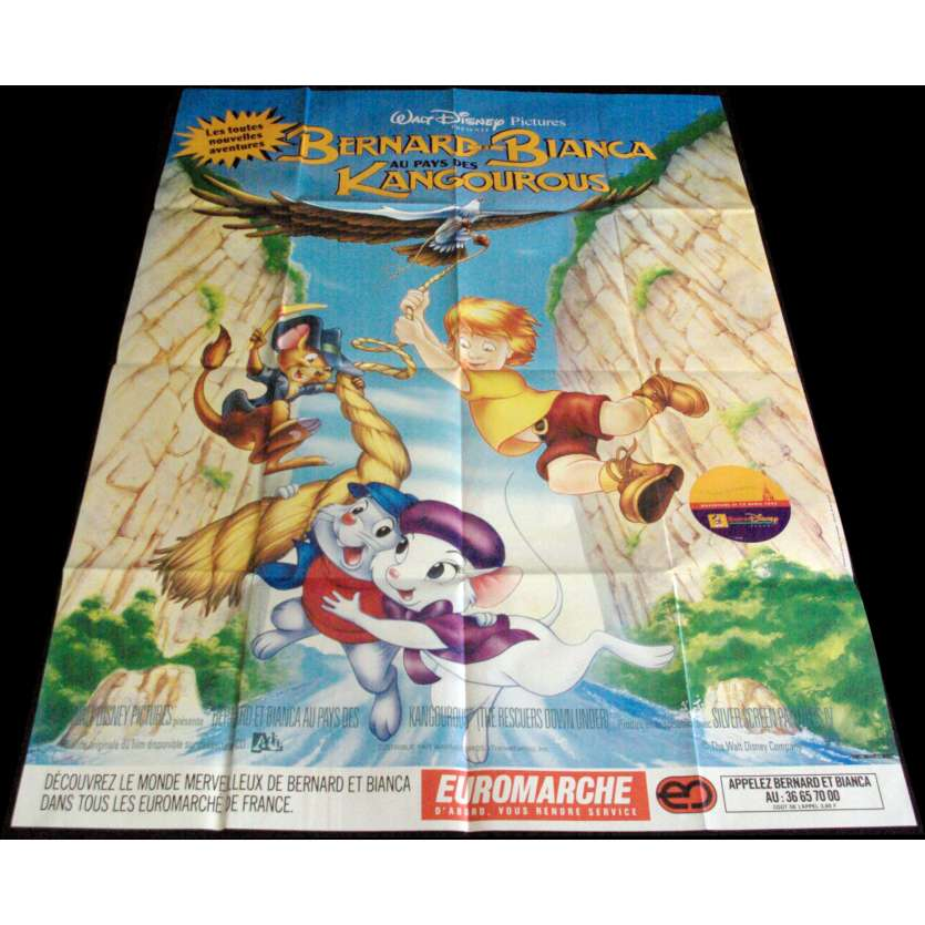 THE RESCUERS French Movie Poster 47x63- 1977 - Disney, Eva Gabor