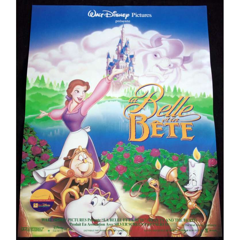 BEAUTY AND THE BEAST French Movie Poster 15x21- 1991 - Disney