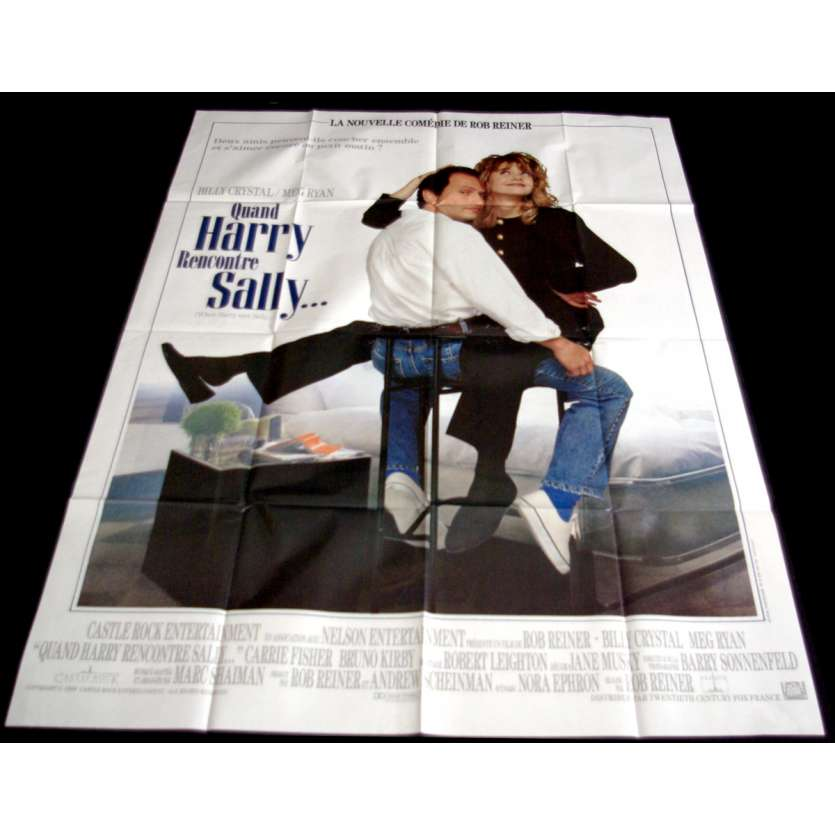 WHEN HARRY MET SALLY French Movie Poster 47x63- 1989 - Rob Reiner, Meg Ryan