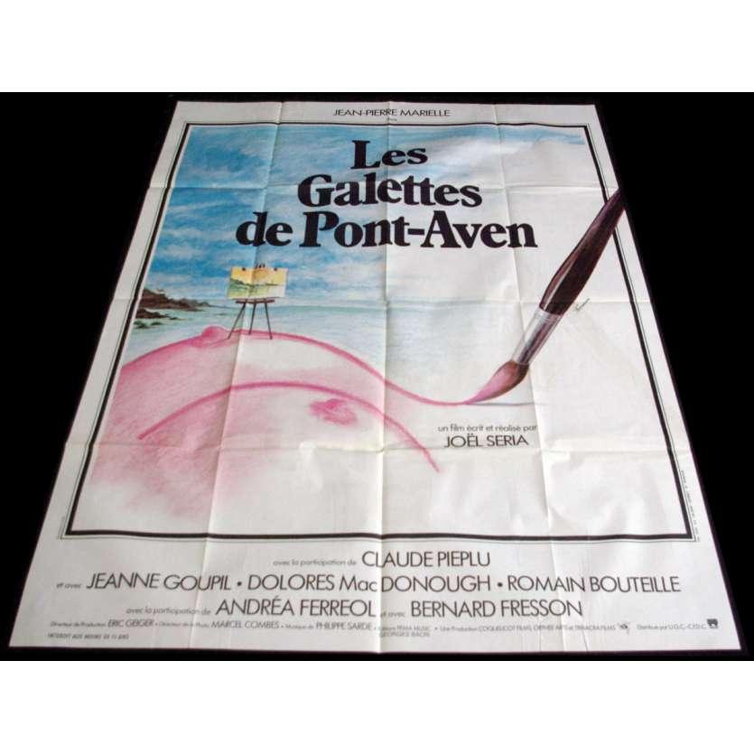 LES GALETTES DE PONT AVEN Affiche de film 120x160 - 1975 - Jean-Pierre Marielle, Joël Séria
