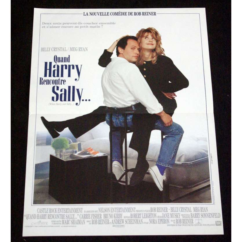 WHEN HARRY MET SALLY French Movie Poster 15x21- 1989 - Rob Reiner, Meg Ryan