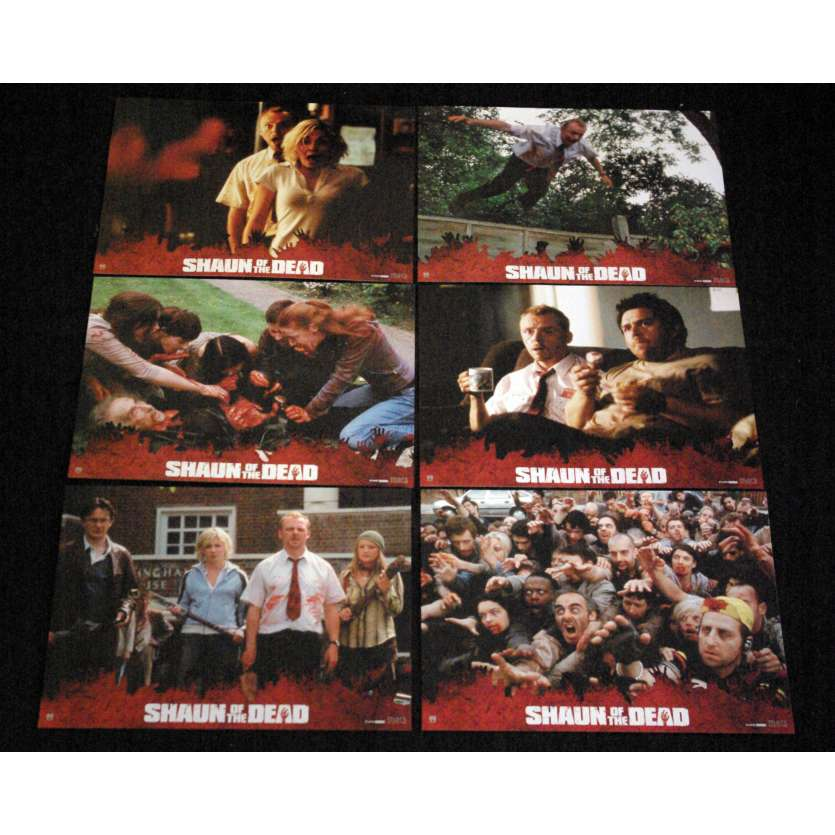 SHAUN OF THE DEAD French Lobby Cards 9x12- 2004 - Edgard Wright, Simon Pegg