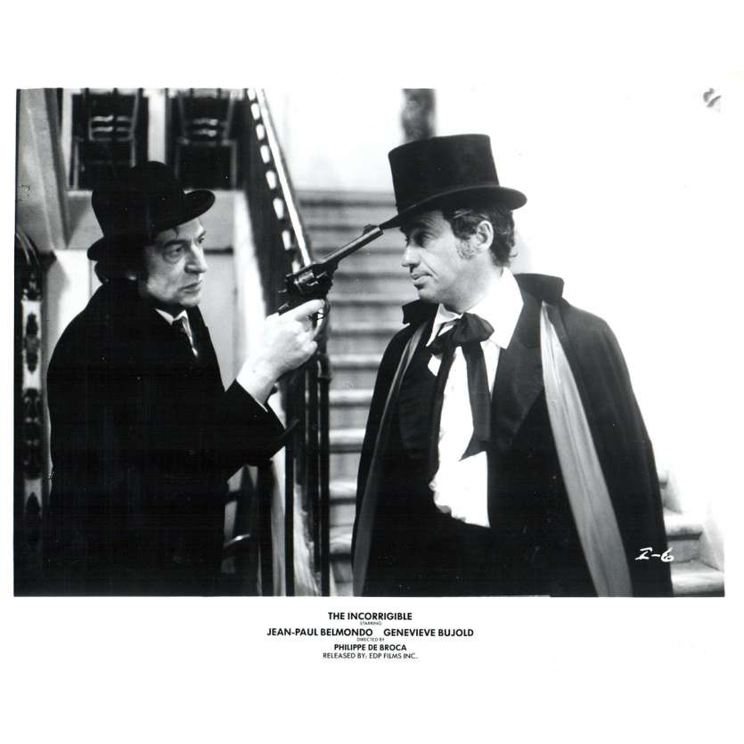 THE INCORRIGIBLE US Press Still 8x10- 1975 - Philippe de Broca, Jean-Paul Belmondo
