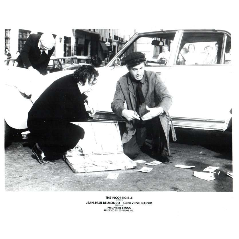 L'INCORRIGIBLE Photo de presse N3 20x25 - 1975 - Jean-Paul Belmondo, Philippe de Broca