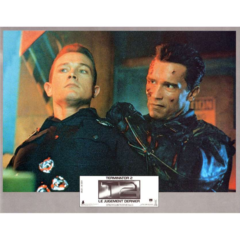 TERMINATOR 2 French Lobby Card 9x12- 1991 - James Cameron, Arnold Schwarzenegger