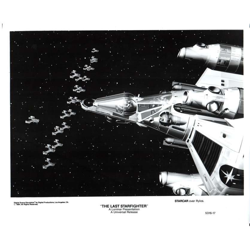 STARFIGHTER Photo de presse N1 20x25 - 1984 - Lance Guest, Nick Castle