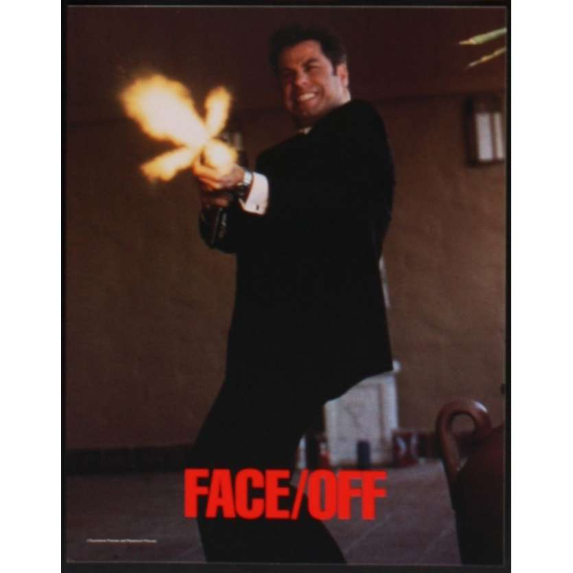 FACE OFF US Lobby Card 11x14- 1996 - John Woo, Nicolas Cage