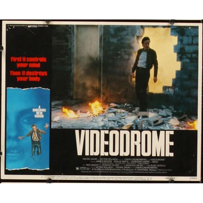 VIDEODROME US Lobby Card 11x14- 1984 - David Cronenberg, James Woods