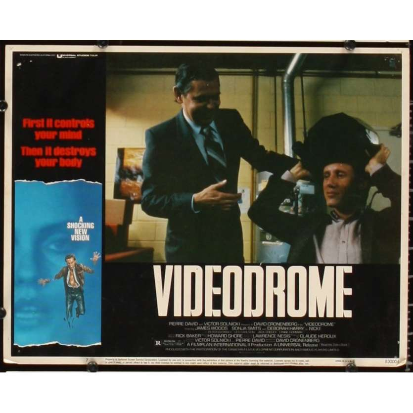 VIDEODROME Photo de film N6 28x36 - 1984 - James Woods, David Cronenberg