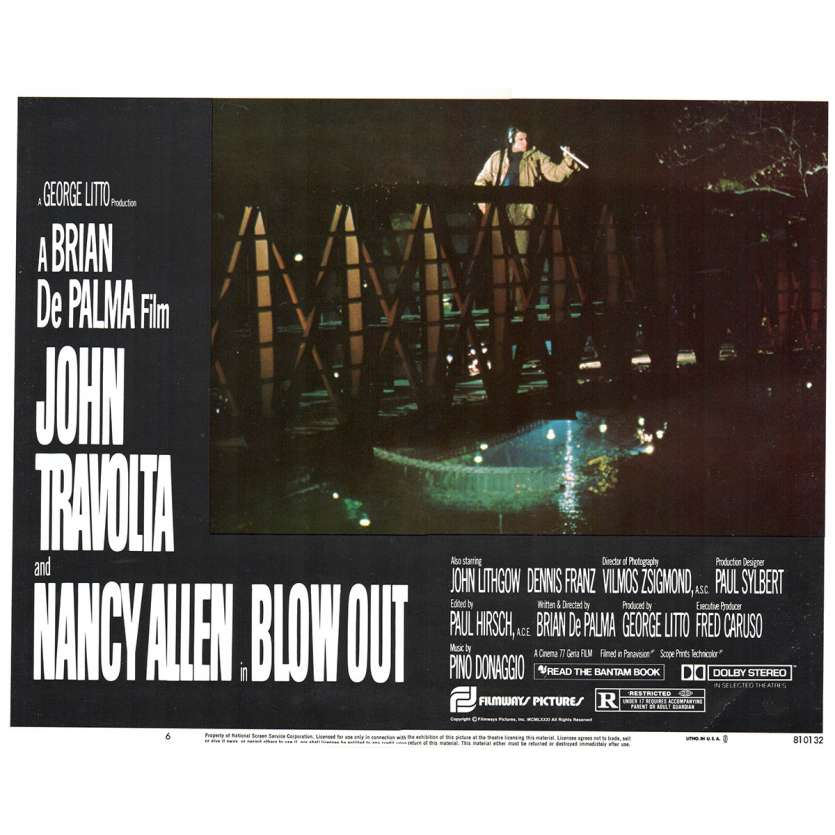 BLOWOUT Photo de film N6 28x36 - 1981 - John Travolta, Brian de Palma
